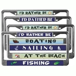 Sailing License Plate Frames