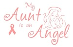 Breast Cancer Angel Aunt T-shirts