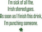 Irish Stereotypes T-shirts