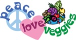 Peace Love and Veggies Shirt