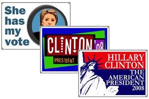 Hillary Clinton Banners