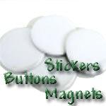 Tilt / Wilt Stickers, Buttons & Magnets