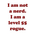Level 55 Rogue RPG Gamer T-shirts & Gifts