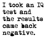 I Took An IQ Test