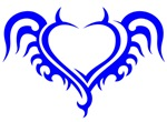 Blue Heart With Horns