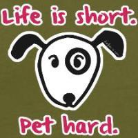 Life Is Short Pet Hard  (Dog)