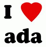 I Love ada
