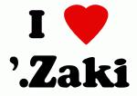 I Love '.Zaki