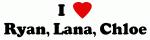 I Love Ryan, Lana, Chloe