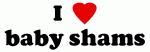 I Love baby shams