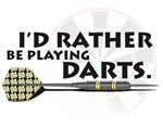 I'd rather be playing darts!
