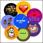 mini button collection