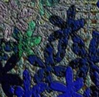 Textured Blue Flowers