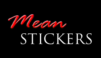 Mean Stickers