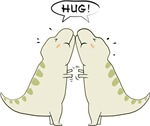 T rex hug