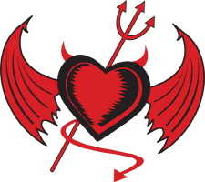 Devil Heart With Wings