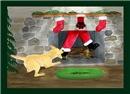 Naughty Dog Tugs Santa