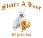 Argentinian Dogo Shares A Beer