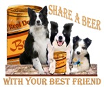 Border Collie Shares Beer With Best Friends