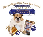 English Bulldog Share A Beer