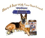 German Shepherd Share A Beer With Your Best Friend