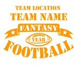 Personalized Fantasy Football Orange