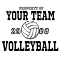 Property Your Text Volleyball