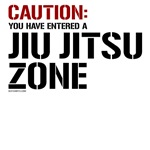 Caution: Jiu Jitsu tee shirt zone