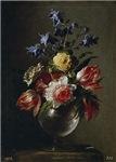 Antique Painting of a Floral Bouque