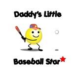 Daddy's little baseball star