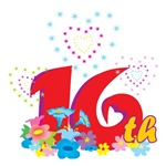 Sweet 16 T-Shirts & Gifts