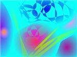 Brilliant Aqua Blue Abstract Pattern