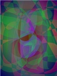 Translucent Layers Dark Green Abstract