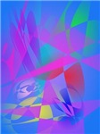 Irregular Forms Light Blue Abstract