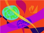 Orange Background Simple Digital Art