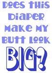 Does this diaper make my butt look big? (blue)