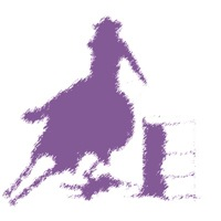 Barrel racer in purple
