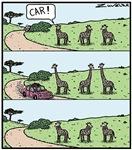 Giraffe's necks Car