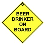 Beer drinker on board