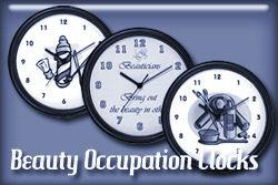 Beauty Occupations Wall Clocks