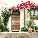 Floral Doorway Tuscany Italy
