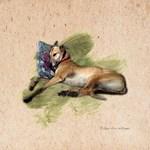 Greyhound and Pillow