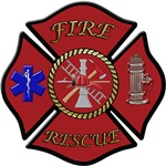 Fire and Rescue Maltese Cross with Keep back 200 f