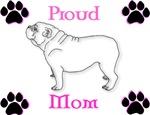 Bulldog Mom Pink/Black