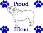 Proud Mom-Blue
