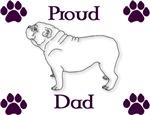 Proud Dad-Purple