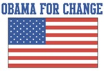 Obama for Change (American-Flag)