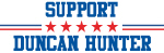 Support DUNCAN HUNTER