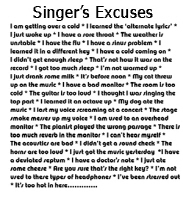 Singer's Excuse