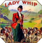 Lady Whip Cigar Label